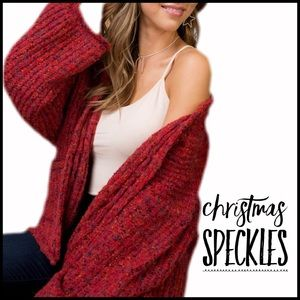 Christmas Speckles Cardigan